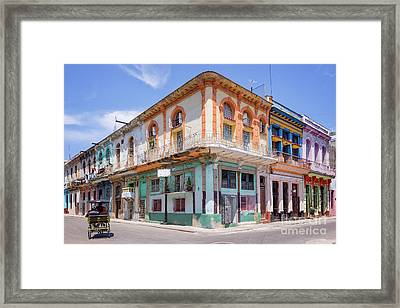 Cuban Architecture Framed Print by Delphimages Photo Creations