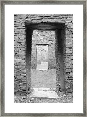 Chaco Canyon Doorways 3 Framed Print