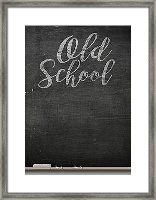 Chalk Board Framed Print