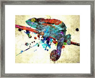 Chameleon Grunge Framed Print