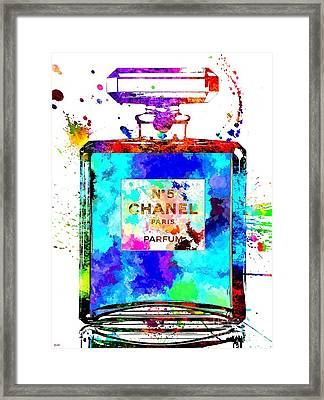 Chanel No. 5 Grunge Framed Print by Daniel Janda