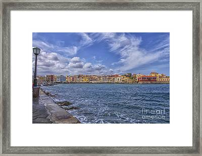 Chania On Crete In Greece Framed Print