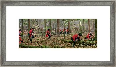 Charge In The Forest Framed Print