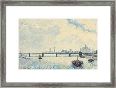 Charing Cross Bridge London Framed Print by Mountain Dreams