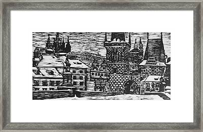 Charles Bridge Framed Print by Lauren Ullrich