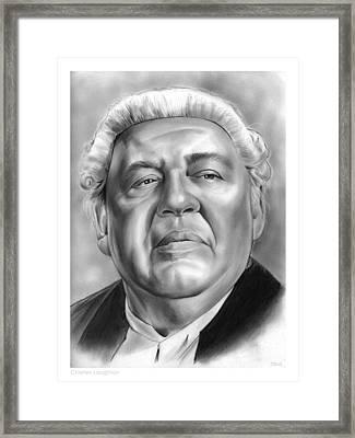 Charles Laughton Framed Print by Greg Joens