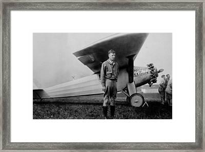 Charles Lindbergh 1902-1974 Framed Print by Everett