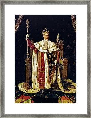 Charles X In His Coronation Robes Framed Print