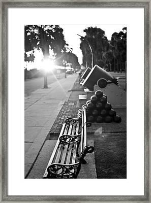 Charleston Battery Sunset Framed Print by Dustin K Ryan