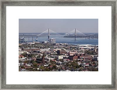 Charleston South Carolina Aerial Framed Print by Dustin K Ryan