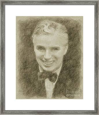 Charlie Chaplin Hollywood Legend Framed Print by Frank Falcon