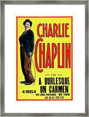 Charlie Chaplin In A Burlesque On Carmen 1915 Framed Print