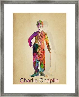 Charlie Chaplin Framed Print by Mark Ashkenazi