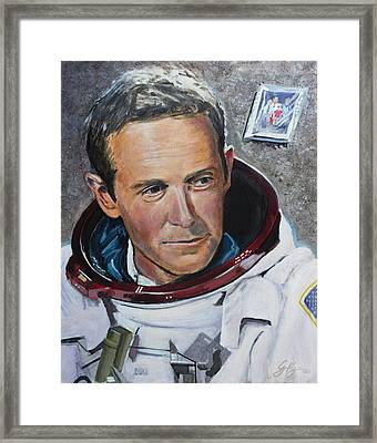 Charlie Duke Framed Print by Simon Kregar
