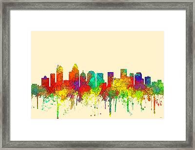 Charlotte Nc Skyline Skyline Framed Print