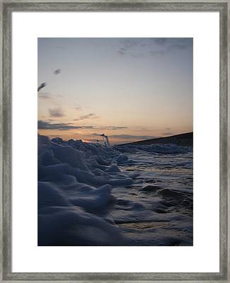 Framed Print featuring the photograph Chasing Dusk by Mira Cooke