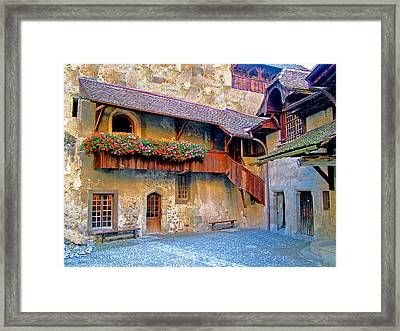 Chateau De Chillon Framed Print by Nick Diemel