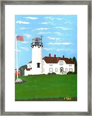 Chatham Lighthouse Painting Framed Print by Frederic Kohli