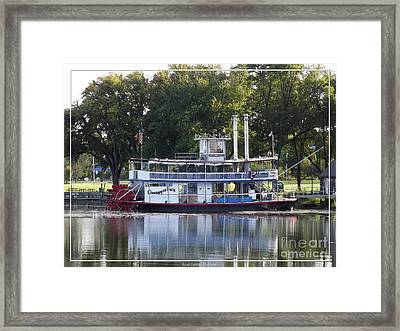 Chautauqua Belle On Lake Chautauqua Framed Print by Rose Santuci-Sofranko