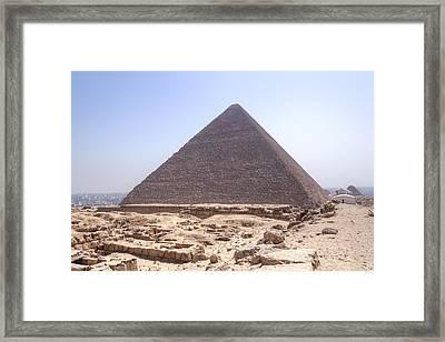 Cheops Pyramid - Egypt Framed Print by Joana Kruse