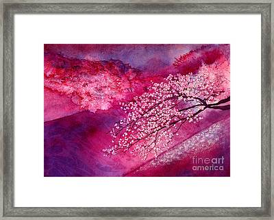 Framed Print featuring the painting Cherry Blossoms by Hailey E Herrera