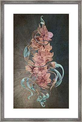 Cherry Blossoms On Blue Framed Print by Irina Effa