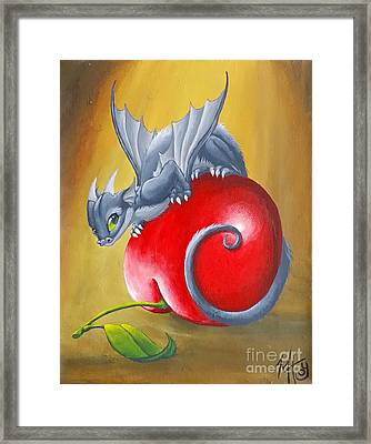 Cherry Dragon Framed Print