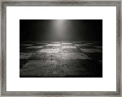 Chessboard Dark Framed Print by Allan Swart
