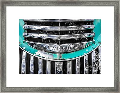 Chevrolet Grill 5 Framed Print