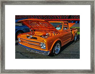 Chevy Stepside Framed Print by Victor Montgomery