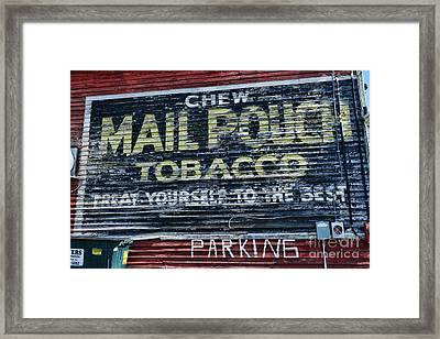 Chew Mail Pouch Tobacco Ad Framed Print by Paul Ward