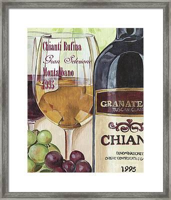 Chianti Rufina Framed Print by Debbie DeWitt