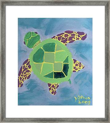 Chiaras Turtle Framed Print by Yshua The Painter