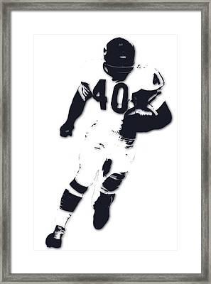Chicago Bears Gale Sayers Framed Print by Joe Hamilton