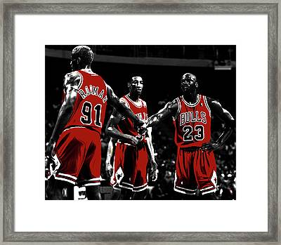 Chicago Bulls Big 3 Framed Print