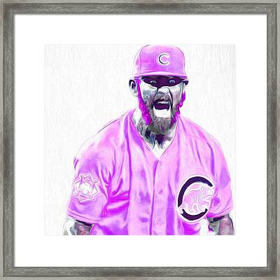 Chicago Cubs Ace Jake Arietta. No No #2 Framed Print