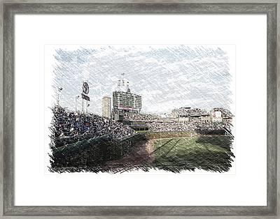 Chicago Cubs Original Scoreboard Pa Framed Print by Thomas Woolworth