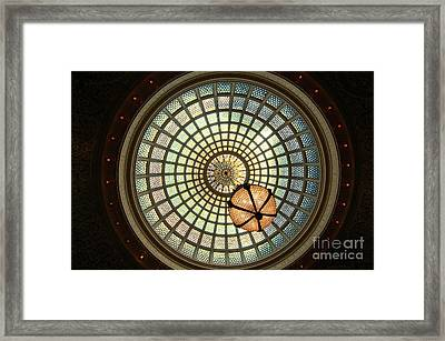 Chicago Cultural Center Dome Framed Print