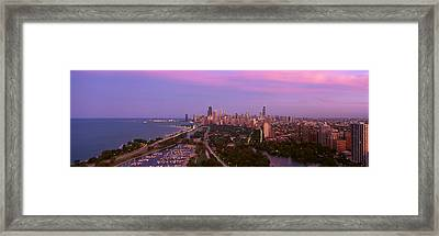 Chicago, Diversey Harbor Lincoln Park Framed Print by Panoramic Images