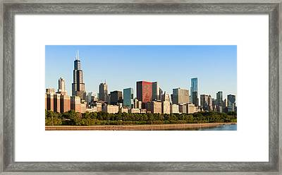 Chicago Downtown At Sunrise Framed Print