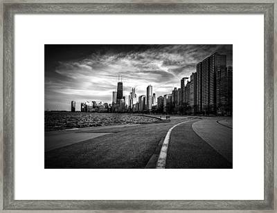 Chicago From North Avenue Beach Framed Print