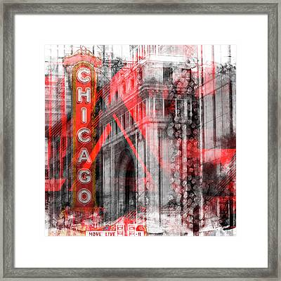 Chicago Geometric Mix No 4 Framed Print