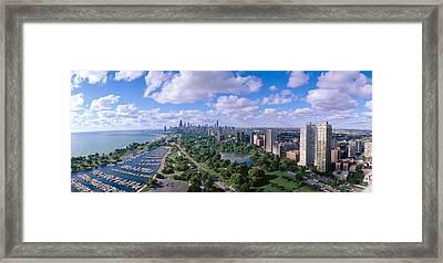 Chicago Harbor, City Skyline, Illinois Framed Print