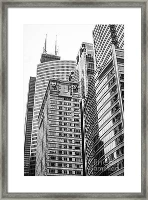 Chicago Office Buildings Architecture Framed Print by Paul Velgos