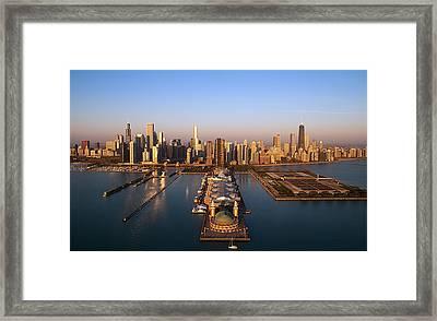 Chicago Skyline Framed Print by Jeff Lewis