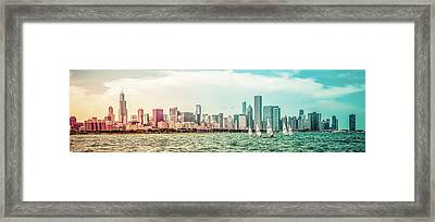 Framed Print featuring the photograph Chicago Skyline by Joel Witmeyer