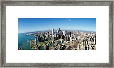 Chicago Skyline Framed Print by Panoramic Images