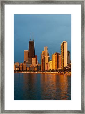Chicago Skyline Framed Print by Sebastian Musial