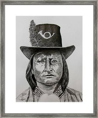 Chief Bird Arapahoe Framed Print by Stan Hamilton