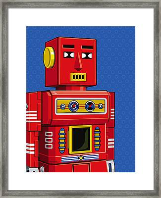 Chief Robot Framed Print by Ron Magnes